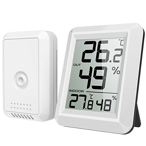 Brifit Thermometer Innen/Ausen, Hygrometer...