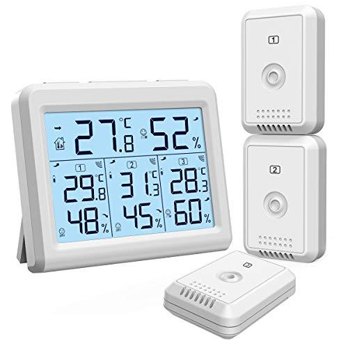 ORIA Thermometer Hygrometer, Innen Außen...