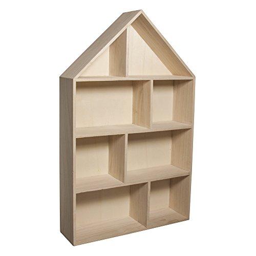 Rayher 62611000 Holz-Setzkasten Haus, zum...