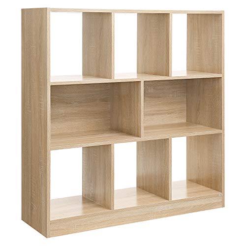 VASAGLE Bücherregal, Raumteiler Regal,...