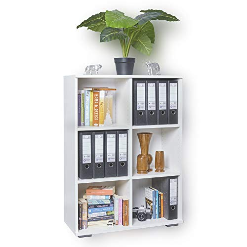 Regal Weiß - Bücherregal - Ordnerregal -...