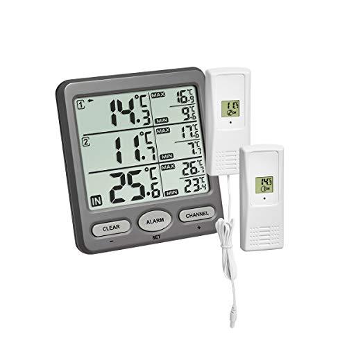 TFA Dostmann Trio Funk-Thermometer, mit 2...