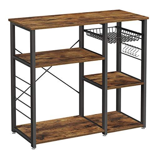 VASAGLE Küchenregal aus Metall, stabiles...