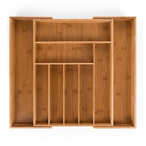 Blumtal Besteckkasten Schublade aus Bambus -...